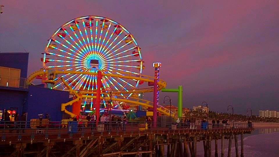 Santa Monica Pier and Coaster 2