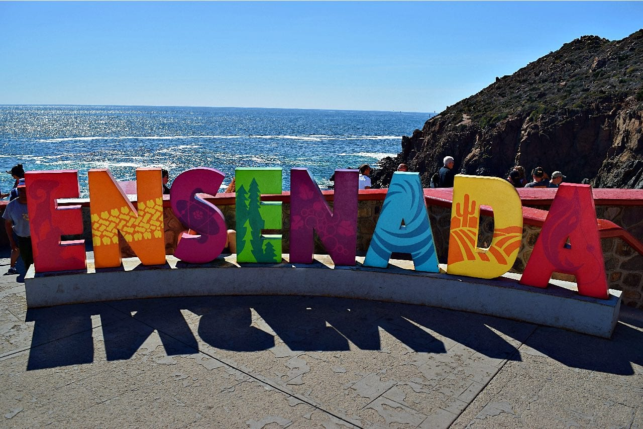 Ensenada sign from our Baja trip